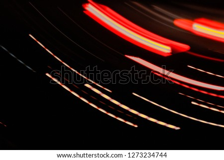 Abstract tones. Night road and low speed shutter light at highway  #1273234744