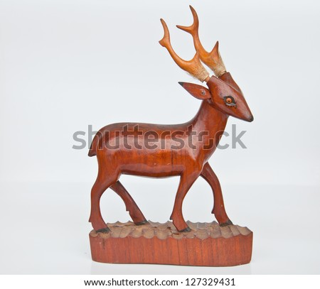 deer from wood