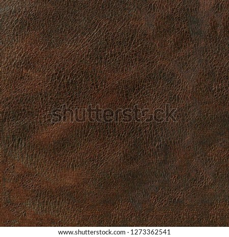 deep brown leather texture background surface, natural grains and pores #1273362541