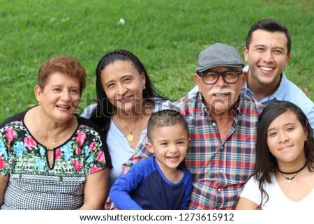 Joyful real ethnic family portrait  Royalty-Free Stock Photo #1273615912