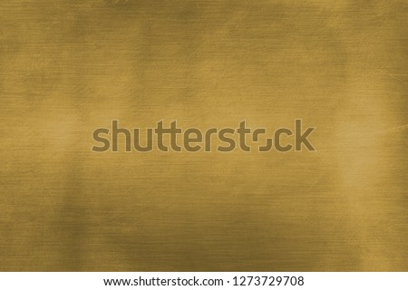 Brushed brass plate, gold colored metal sheet  Royalty-Free Stock Photo #1273729708