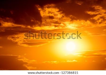 bright sunset photo #127386815