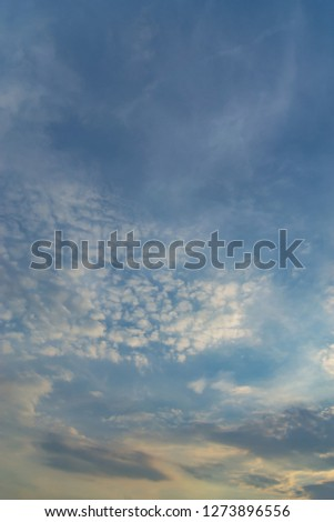 Blue sky with white clouds during the afternoon. #1273896556