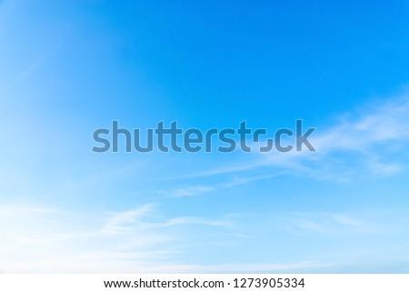 Air clouds in the blue sky. #1273905334