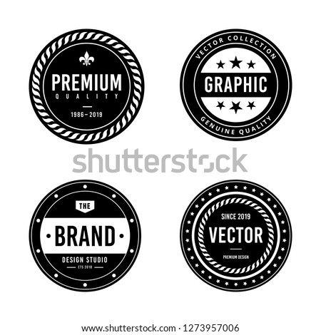 Vintage badge design #1273957006