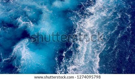 Ocean water stirred by cruiseship