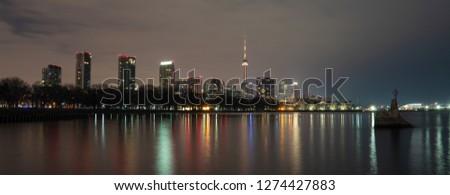 toronto night city #1274427883