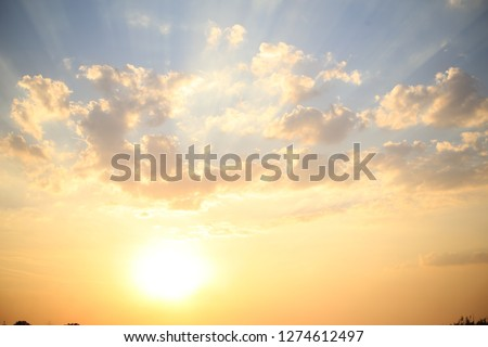 Sun and sky. Background. Clouds #1274612497