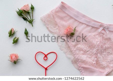 Pink lingerie panty. Fashion cloth, lingerie. Concept of love. #1274622562