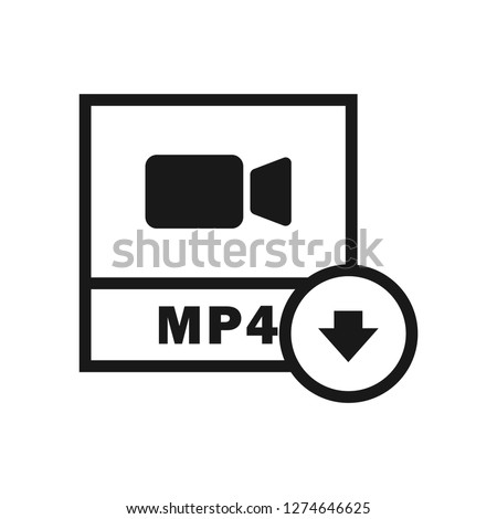 MP4 File Download icon