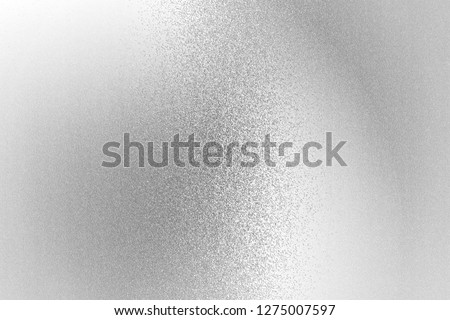 Texture of reflection on rough white metallic wall, abstract background #1275007597