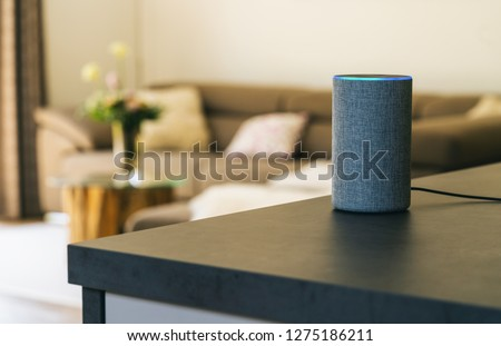 voice controlled speaker and personal Assistent at home #1275186211