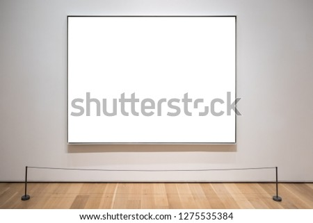 Art gallery blank picture frame for mockup