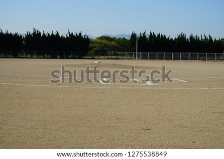 Baseball field and baseball equipments #1275538849