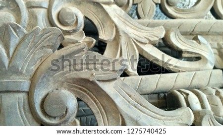 Wooden carving background  #1275740425