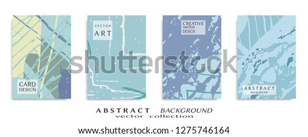 Abstract universal grunge art texture, web header template. Collage page, design for card, invitation, brochure brush strokes style, banner idea, book cover, booklet print, flyer sheet a4 #1275746164