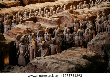 LINGTONG, CHINA-OCTOBER 25, 2018:,Terracotta Army, 25 October 2018 #1275761293