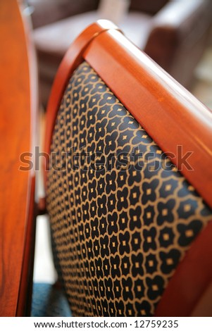 abstraction, pattern on back of the chair, expensive furniture, small depth  sharpness #12759235