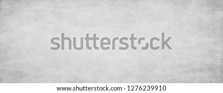 Long wide panoramic background texture in horizontal position. Monochrome texture background with white and gray color.Grunge old wall texture, concrete cement background. #1276239910