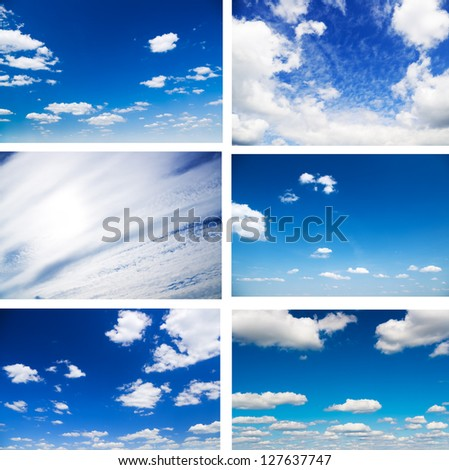 Sky daylight collection. Natural sky composition. Element of design. #127637747