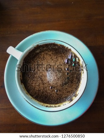 Kopi Tubruk is an Indonesian style coffee #1276500850
