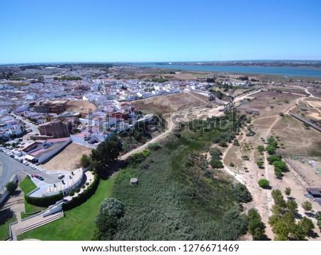 Palos de la Frontera. Huelva, Andalusia, Spain.Discover of America by Columbus. Drone Photo #1276671469
