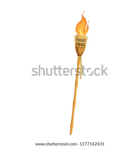 Torch, flame. Fire vector icon. Aloha hawaii.
