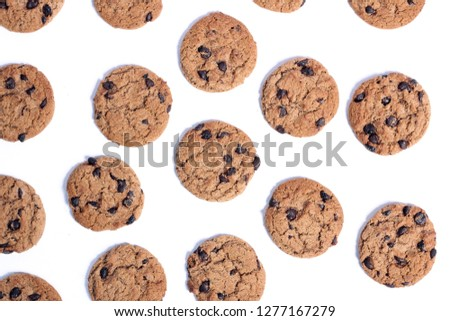 Delicious Chocolate Chip Cookies #1277167279