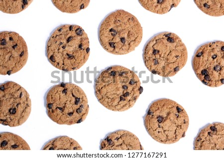 Delicious Chocolate Chip Cookies #1277167291