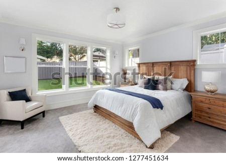 Master Bedroom Interior in New Luxury Home #1277451634