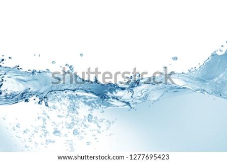 Water splash,water splash isolated on white background,water  #1277695423