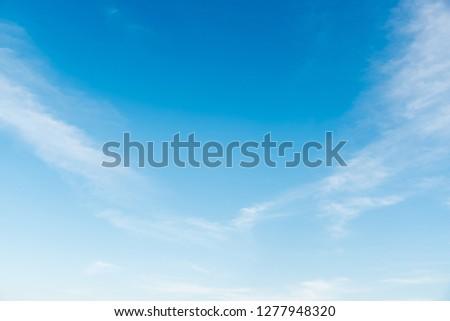 white cloud on blue sky #1277948320