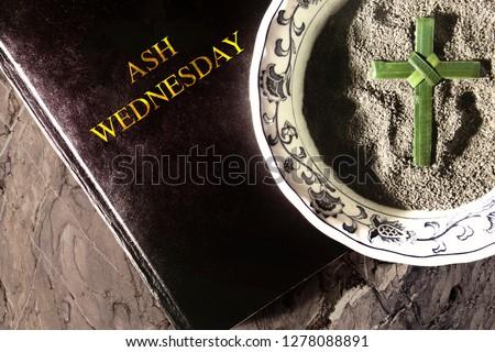 Ash Wednesday. Lent. Christian religion Royalty-Free Stock Photo #1278088891