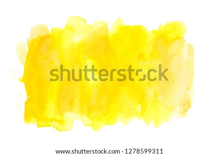 yellow watercolor with colorful shades paint stroke background splash texture design  #1278599311