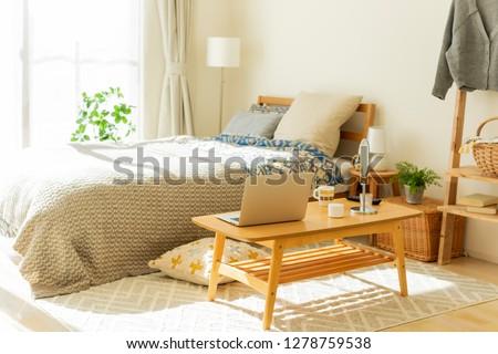 Bedroom living alone #1278759538