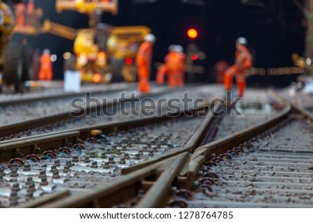 Railway station tracks  #1278764785