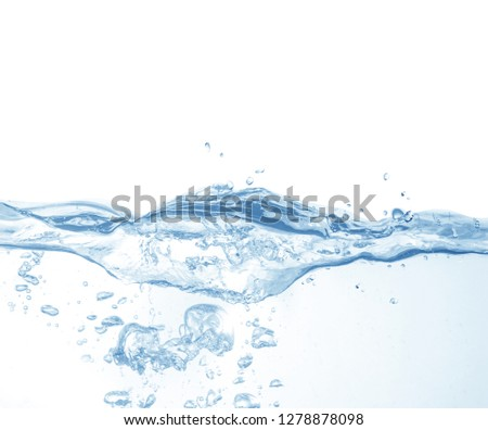 Water splash isolated on white background,water  #1278878098