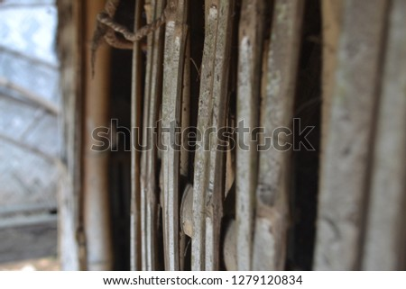 Ancient Indonesian Houses. Traditional Bamboo #1279120834