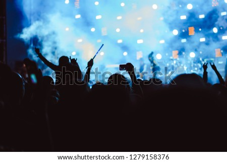 hands of people at the concert #1279158376