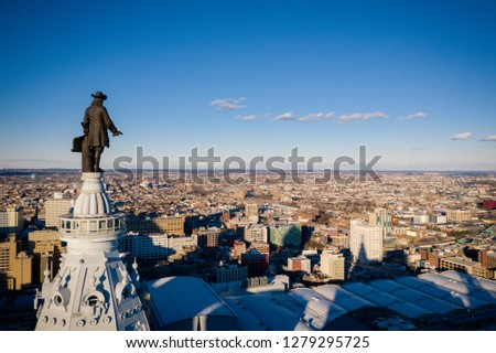 Philly Skyline Aerial