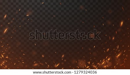 Fire sparks background