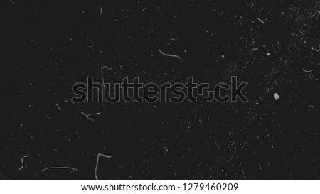 Realistic dust particles on dark background. Abstract animation. White and glow dust particle abstract on black background #1279460209