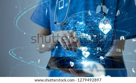 Medical technology concept. Royalty-Free Stock Photo #1279492897