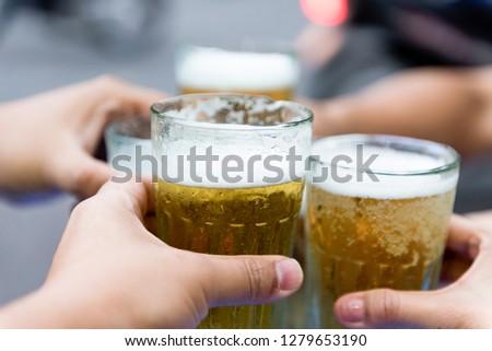 Beer Toasting,street food Vietnam #1279653190