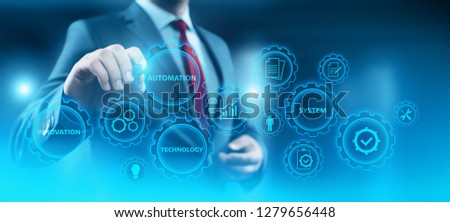 Automation Software Technology Process System Business concept. #1279656448