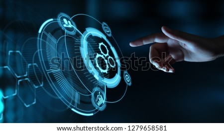 Automation Software Technology Process System Business concept. #1279658581