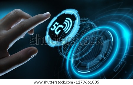 5G Network Internet Mobile Wireless Business concept. #1279661005