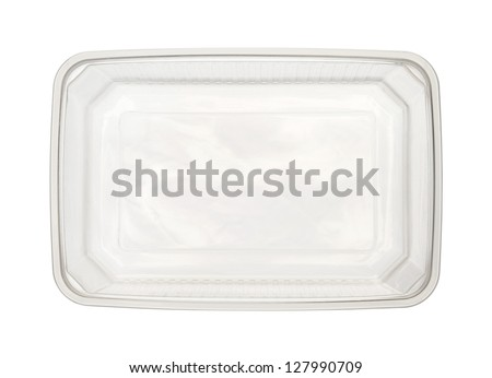 Plastic food box isolated on white background #127990709
