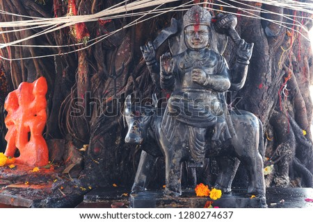 Shani dev is the Indian demigod of the planet Saturn.