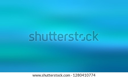 Gradient without focus and with Iris Blue, Summer Sky color. Gaussian drawing as a work of art. Background with smooth change of colors and shades. Template and wallpaper on the desktop PC. #1280410774